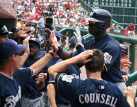 Mike Cameron celebrates after hitting a homer against the Astros Sampson.jmchughphoto.jpg